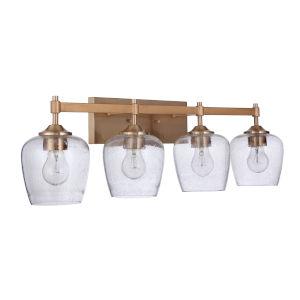 Stellen Satin Brass Four-Light Bath Vanity