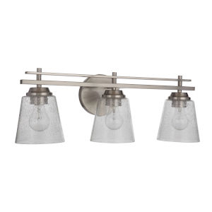 Drake Brushed Polished Nickel Three-Light Bath Vanity
