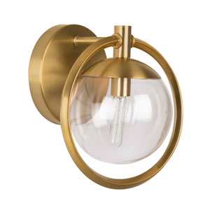 Piltz Satin Brass 10-Inch One-Light Bath Vanity