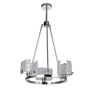 Trouvaille Polished Nickel Three-Light Chandelier