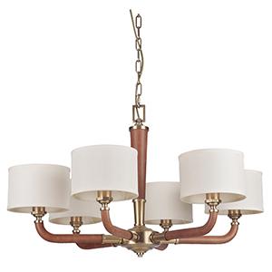 Huxley Vintage Brass Six-Light Chandelier