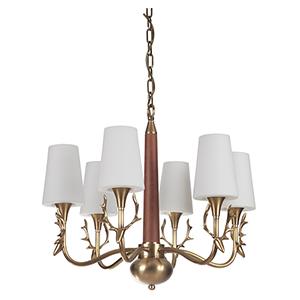Churchill Vintage Brass Six-Light Chandelier