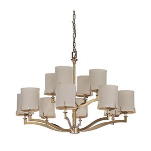 Devlyn Vintage Brass 12-Light Chandelier