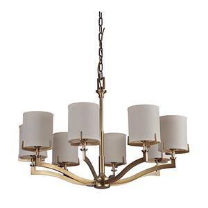 Devlyn Vintage Brass Eight-Light Chandelier