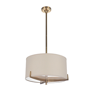 Devlyn Vintage Brass Three-Light Pendant