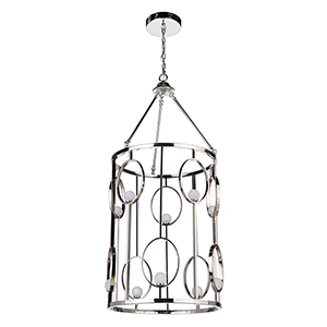 Indy Polished Nickel 10-Light LED Pendant