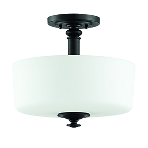 Dardyn Espresso Three-Light Convertible Semi Flush