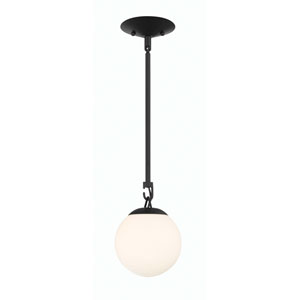 Orion Flat Black 6-Inch One-Light Mini Pendant