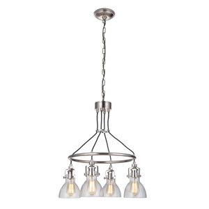 State House Polished Nickel 24-Inch Four-Light Chandelier