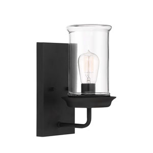 Homestead Espresso One-Light Outdoor Wall Sconce
