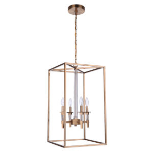 Tarryn Satin Brass Four-Light Pendant