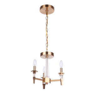 Tarryn Satin Brass Three-Light Convertible Semi Flush