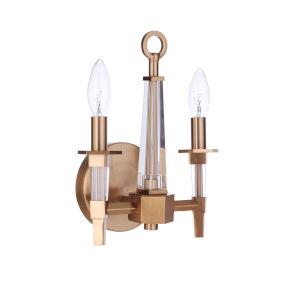 Tarryn Satin Brass Two-Light Wall Sconce