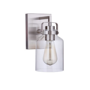Foxwood Brushed Polished Nickel One-Light Wall Sconce