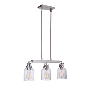 Foxwood Brushed Polished Nickel Three-Light 5-Inch Mini Pendant