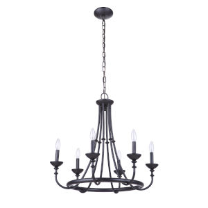 Marlowe Flat Black Six-Light Chandelier