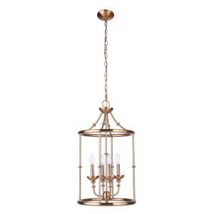 Marlowe Satin Brass Four-Light Pendant