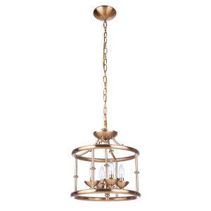 Marlowe Satin Brass Four-Light Convertible Semi Flush