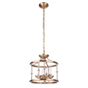 Marlowe Satin Brass Four-Light Convertible Semi Flush