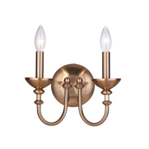 Marlowe Satin Brass Two-Light Wall Sconce