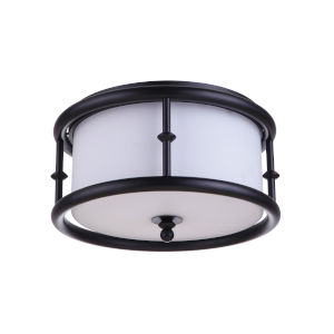 Marlowe Flat Black Three-Light Flush Mount
