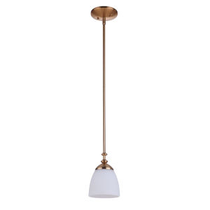 Marlowe Satin Brass One-Light Mini Pendant