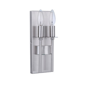 Larrson Brushed Polished Nickel Two-Light Wall Sconce