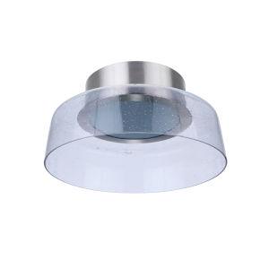 Centric Brushed Polished Nickel 11-Inch LED Flushmount