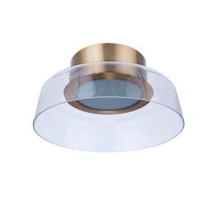 Centric Satin Brass 11-Inch LED Flushmount