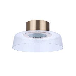 Centric Satin Brass 13-Inch LED Flushmount