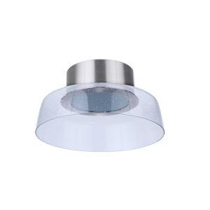 Centric Brushed Polished Nickel 14-Inch LED Flushmount
