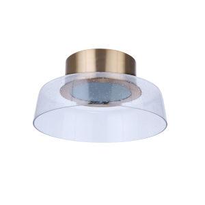 Centric Satin Brass 14-Inch LED Flushmount