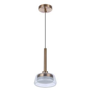 Centric Satin Brass LED Mini Pendant