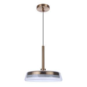 Centric Satin Brass 14-Inch LED Pendant