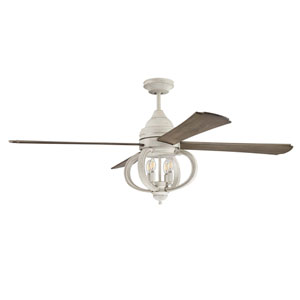 Augusta Cottage White Four-Light Led 60-Inch Ceiling Fan