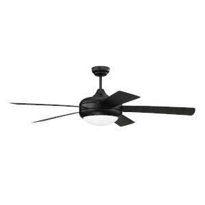 Cronus Flat Black 52-Inch LED Ceiling Fan