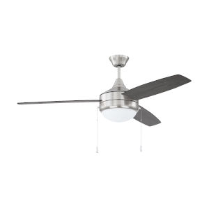 Phaze Brushed Polished Nickel 52-Inch Two-Light Ceiling Fan with Graywood Blade