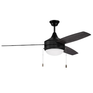 Phaze Flat Black 52-Inch Two-Light Ceiling Fan