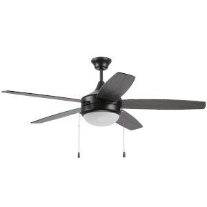 Phaze Flat Black 52-Inch Five-Blade Two-Light Ceiling Fan