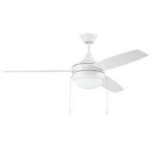 Phaze White 52-Inch Two-Light Ceiling Fan