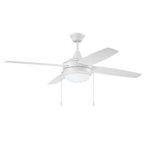 Phaze White 52-Inch Four-Blade Two-Light Ceiling Fan