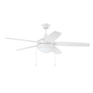 Phaze White 52-Inch Five-Blade Two-Light Ceiling Fan