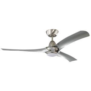 Genesis Brushed Polished Nickel 52-Inch LED Ceiling Fan