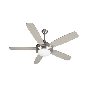 Helios Brushed Polished Nickel Ceiling Fan with LED Light