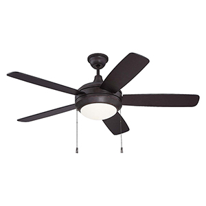 Helios Oiled Bronze Gilded Ceiling Fan with LED Light
