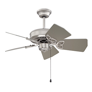 Piccolo Brushed Satin Nickel Ceiling Fan