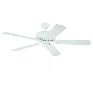 Pro Builder White Standard Blade Ceiling Fan
