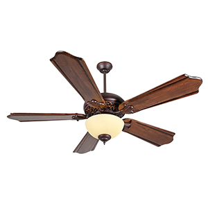 Mia Oiled Bronze Gilded Ceiling Fan with Fluorescent Light