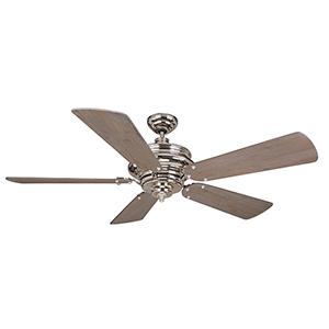 Townsend Polished Nickel Ceiling Fan