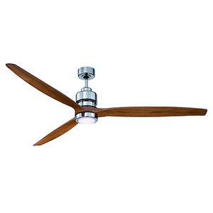 Sonnet Chrome 52-Inch Ceiling Fan with LED Light